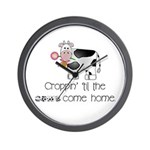 Croppin' Cows Wall Clock
