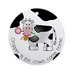 Croppin' Cows Ornament (Round)