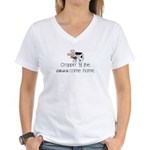 Croppin' Cows Women's V-Neck T-Shirt