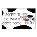 Croppin' Cows Rectangle Sticker