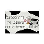 Croppin' Cows Rectangle Magnet