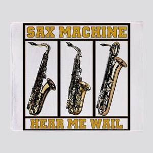 Sax Machine Throw Blanket
