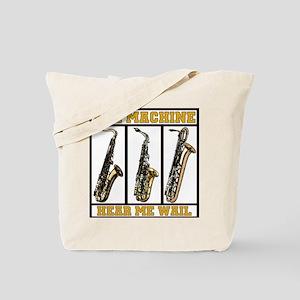 Sax Machine Tote Bag