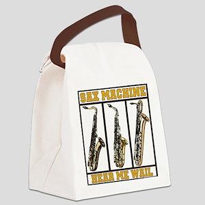 Sax Machine Canvas Lunch Bag