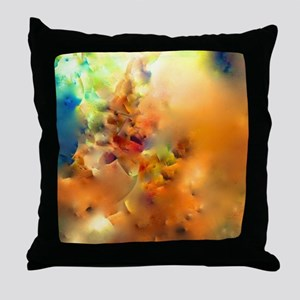 Climbing In The Clouds Throw Pillow