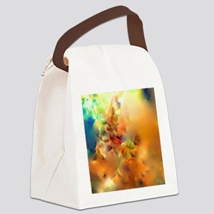 Climbing In The Clouds Canvas Lunch Bag