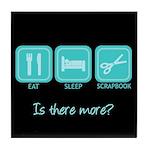Eat, Sleep, Scrapbook Tile Coaster