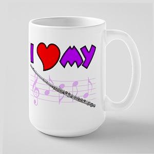 I Love My Flute Large Mug
