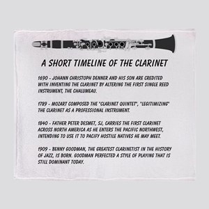 Clarinet Timeline Throw Blanket