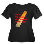 Chip a R Women's Plus Size Scoop Neck Dark T-Shirt