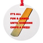 Chip a Reed Round Ornament