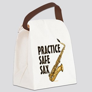 Practice Safe Sax (Tenor) Canvas Lunch Bag