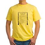 Clarinet Top 10 Yellow T-Shirt