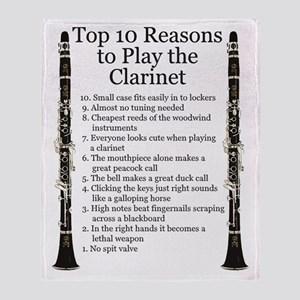 Clarinet Top 10 Throw Blanket