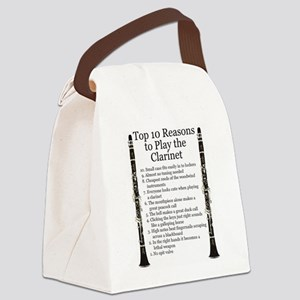 Clarinet Top 10 Canvas Lunch Bag