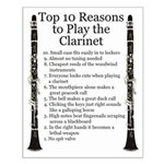 Clarinet Top 10 Small Poster