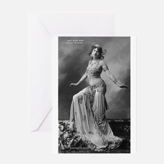 Vintage Mata Hari Postcard Greeting Card