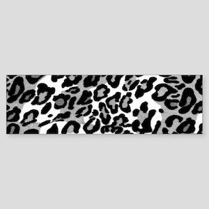 Gray Leopard Pattern Bumper Sticker