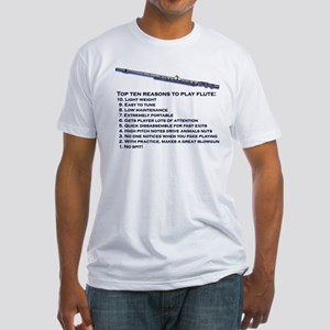 Flute Top 10 Fitted T-Shirt