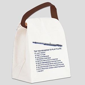 Flute Top 10 Canvas Lunch Bag