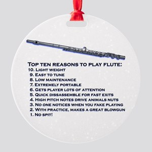 Flute Top 10 Round Ornament