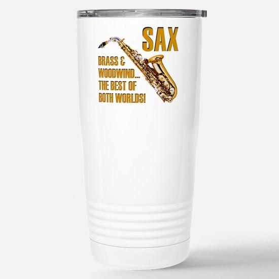 Sax: Best of Both World Stainless Steel Travel Mug