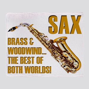 Sax: Best of Both Worlds Throw Blanket