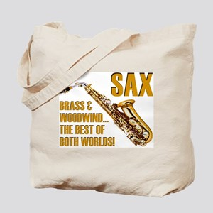 Sax: Best of Both Worlds Tote Bag