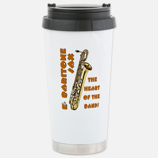 Baritone Sax Stainless Steel Travel Mug