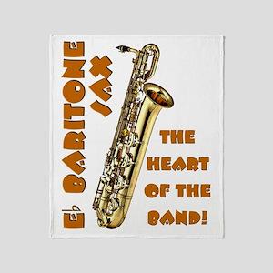 Baritone Sax Throw Blanket