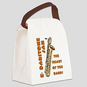 Baritone Sax Canvas Lunch Bag