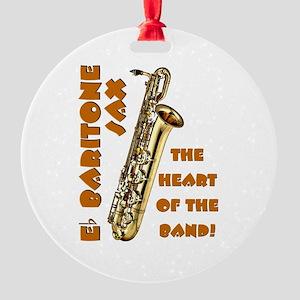 Baritone Sax Round Ornament