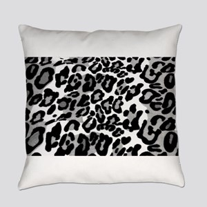 Gray Leopard Pattern Everyday Pillow
