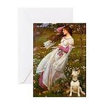 Windflowers Bull Terrier Greeting Card