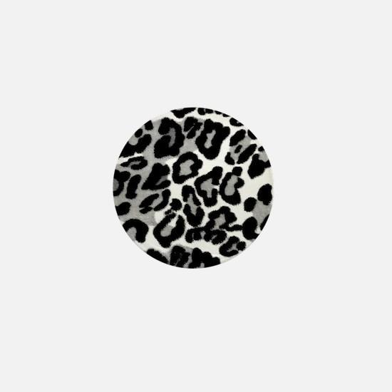 Gray Leopard Pattern Mini Button