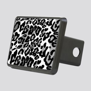 Gray Leopard Pattern Rectangular Hitch Cover