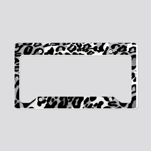 Gray Leopard Pattern License Plate Holder