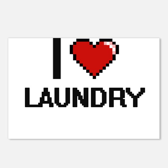 I Love Laundry Postcards (Package of 8)