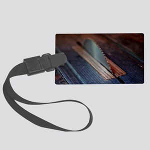 Old Bandsaw Large Luggage Tag