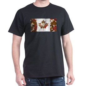 Canadian Flag Fall Woodland Autumn Colors T-Shirt