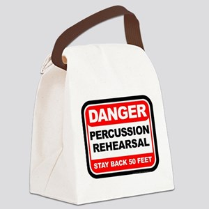 Danger: Percussion Rehearsal Canvas Lunch Bag