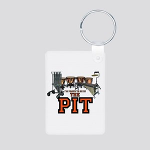 Proud to Be In the Pit Aluminum Photo Keychain