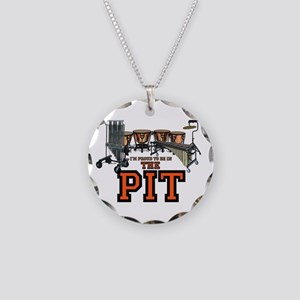 Proud to Be In the Pit Necklace Circle Charm