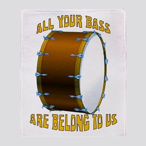 All Your Bass Throw Blanket