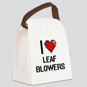 I Love Leaf Blowers Canvas Lunch Bag