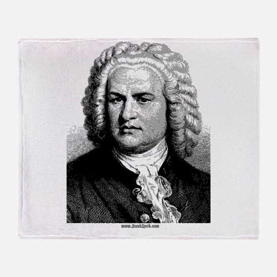 Front ~ Bach Throw Blanket