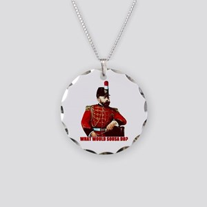 What Would Sousa Do Necklace Circle Charm