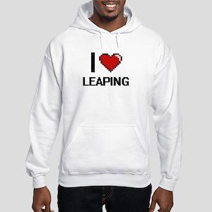 I Love Leaping Hooded Sweatshirt
