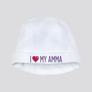 I Love My Amma baby hat