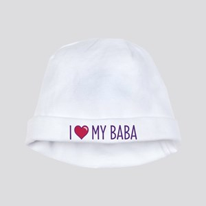 I Love My Baba baby hat
